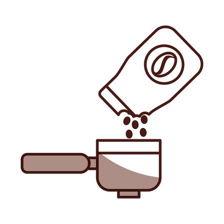koffie toast tas met broodrooster vector illustratie ontwerp