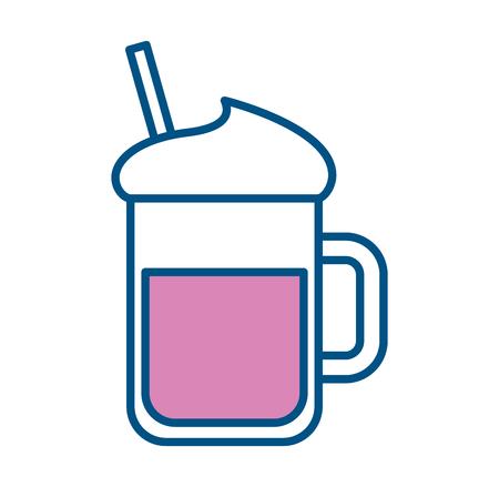 Iced coffee glass icon vector illustration design 向量圖像