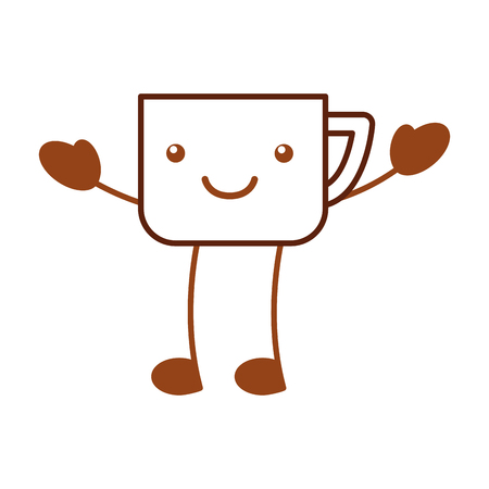 coffee cup   character vector illustration design Illustration