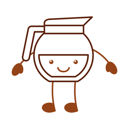 coffee teapot character vector illustration design 向量圖像