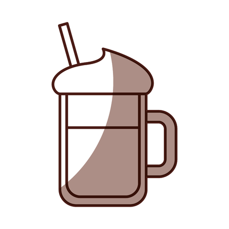 iced coffee glass icon vector illustration design Ilustrace