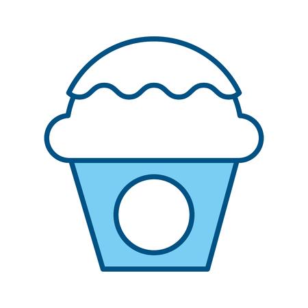 A sweet cupcake icon vector illustration design.