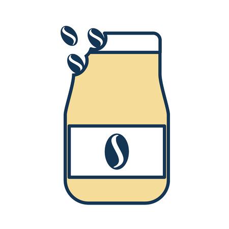 A coffee toast bag icon vector illustration design.