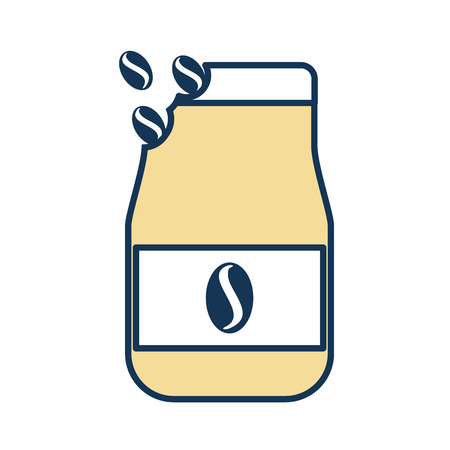 Een ontwerp van de het pictogram vectorillustratie van de koffietoost-zak.
