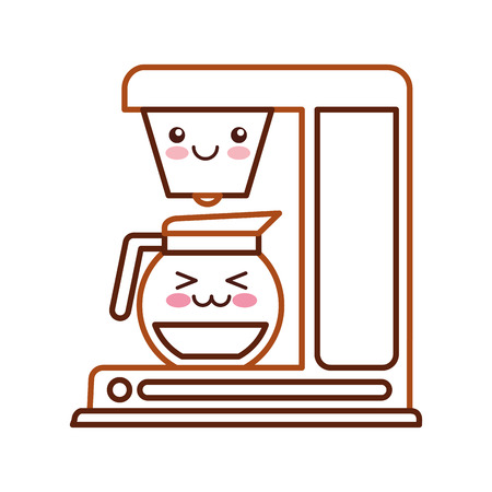 making a face: coffee machine   character vector illustration design Illustration