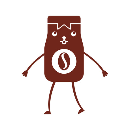 Coffee toast bag character vector illustration design