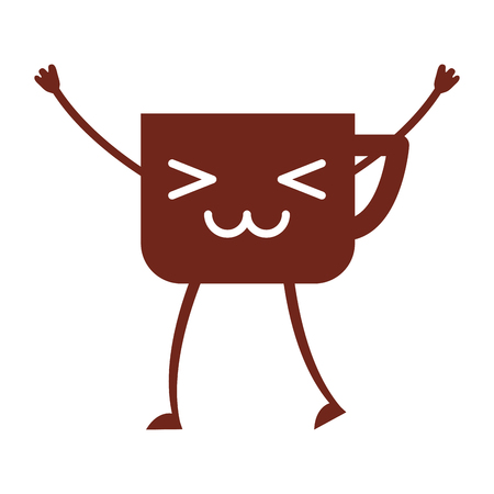 Coffee cup kawaii character vector illustration design Stock Vector - 80103408