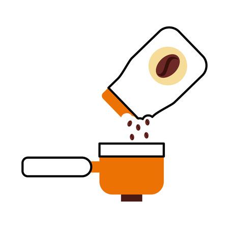 De zak van de koffietoost met ontwerp van de broodrooster vectorillustratie Stock Illustratie