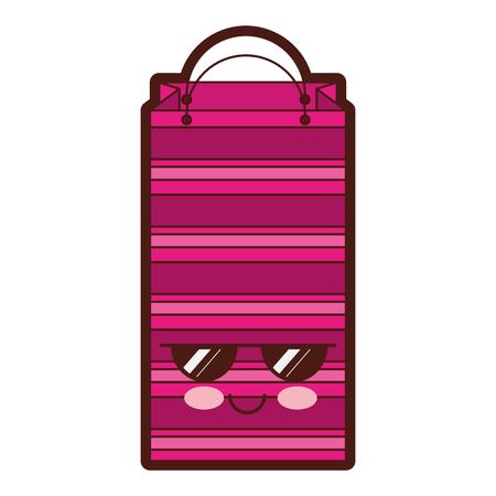 paper shopping bag  character vector illustration design