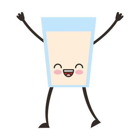isolate: beverage glass character vector illustration design
