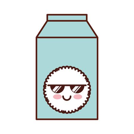 milk box   character vector illustration design