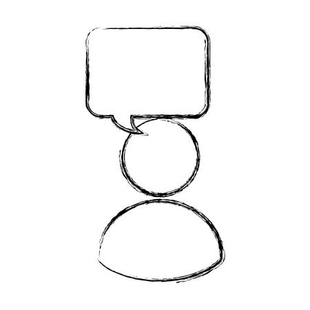 avatar gebruiker geïsoleerd pictogram vector illustratie ontwerp