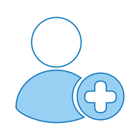 avatar user with pluss symbol vector illustration design