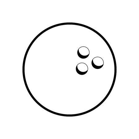 白い背景のベクトル図をボウリングのボールのアイコン