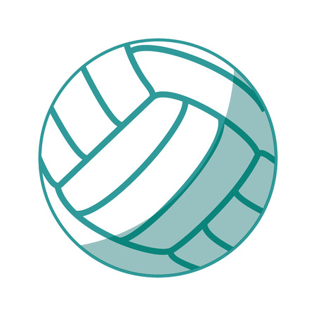 volleyball ball icon over white background vector illustration Illustration