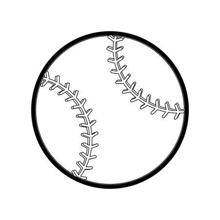 pastime: baseball ball icon over white background vector illustration