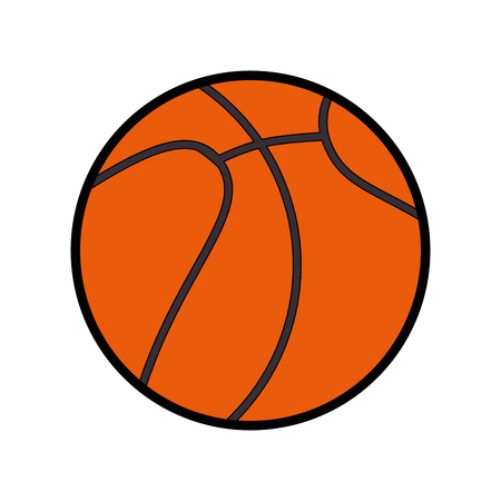 basketball ball icon over white background colorful design vector illustration