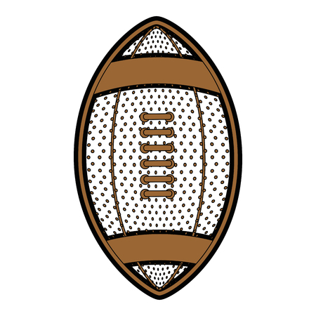 american football ball icon over white background vector illustration
