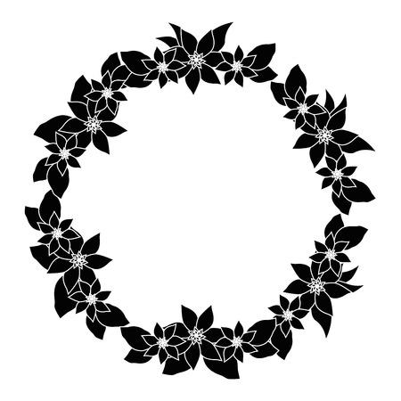 Cornice rotonda con fiori illustrazione vettoriale illustrazione grafica Archivio Fotografico - 80127918