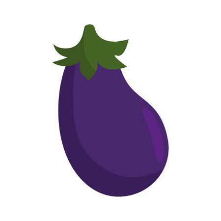 ナスの新鮮な野菜のアイコン ベクトル イラスト グラフィック デザイン