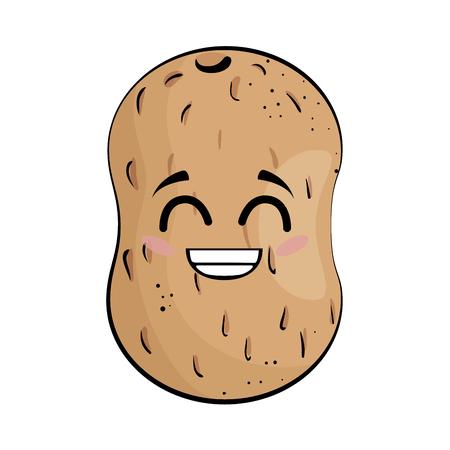 potato funny cartoon icon vector illustration graphic design