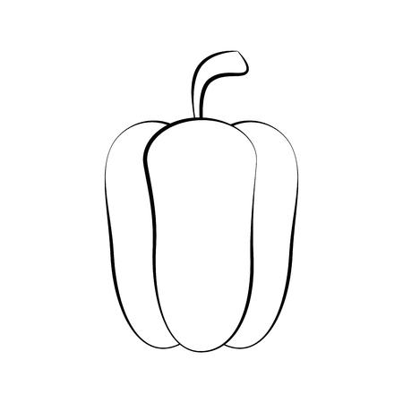 Pepper fresh vegetable icon vector illustration graphic design Illustration