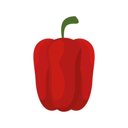 Pepper fresh vegetable icon vector illustration graphic design Çizim