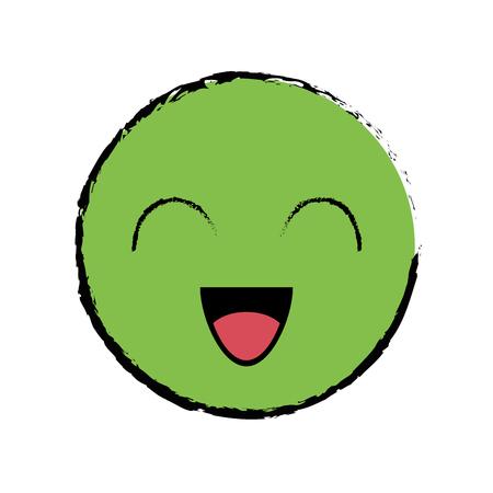 cute cartoon face icon vector illustration graphic design