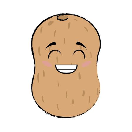 potato cartoon face icon vector illustration graphic design