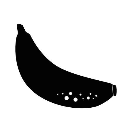 Sweet banana fruit icon vector illustration graphic design