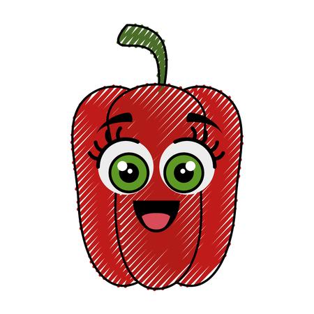 calorie: pepper funny cartoon icon vector illustration graphic design
