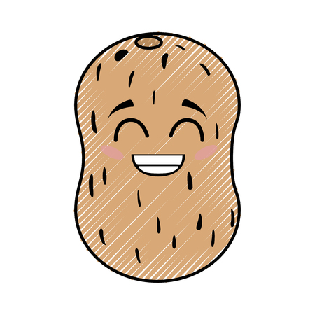 potato funny cartoon icon vector illustration graphic design