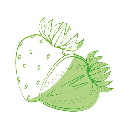 aardbei vers fruit pictogram vector illustratie grafisch ontwerp Stock Illustratie