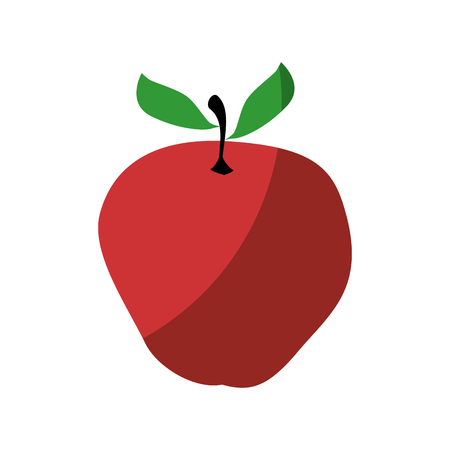 Apple fresh fruit icon vector illustration graphic design Ilustracja