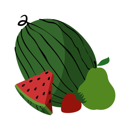 market gardening: Watermelon delicious fruit icon vector illustration graphic design