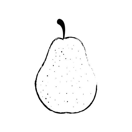 Delicious pear fruit icon vector illustration graphic design