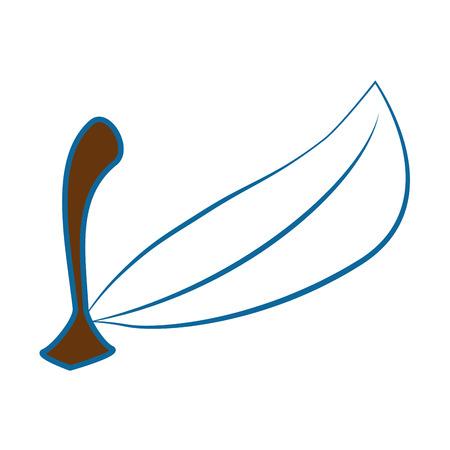 フルーツ葉分離アイコン ベクトル イラスト グラフィック デザイン