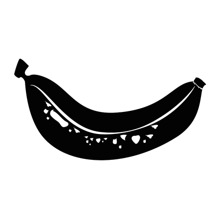 market gardening: Sweet banana fruit icon vector illustration graphic design