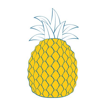 Pineapple delicious fruit icon vector illustration graphic design