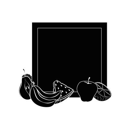 Set of fruits icon vector illustration graphic design Illustration