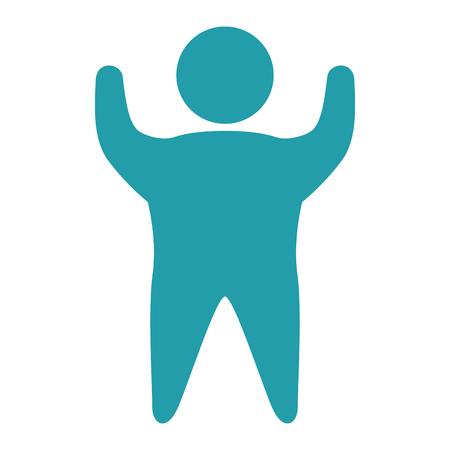 Grosse silhouette humaine isolé icône du design illustration vectorielle Banque d'images - 80197953