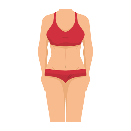 Frau mit Badebekleidung Icon Vektor-Illustration Design Standard-Bild - 80197957