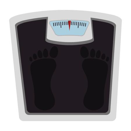 重量バランス浴室アイコン ベクトル イラスト デザイン