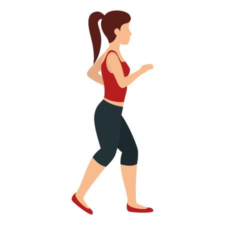 runner woman with sport wear vector illustration design Illusztráció