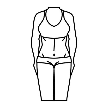 Frau mit Sportbekleidung Vektor-Illustration Design Standard-Bild - 80196414