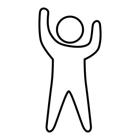 human silhouette isolated icon vector illustration design Иллюстрация