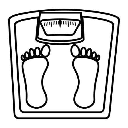 weight balance bathroom icon vector illustration design Stock fotó - 80196801