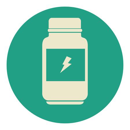 レイのアイコン ベクトル小話デザイン ボトル タンパク質