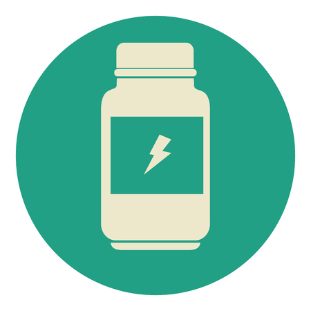 bottle proteins with ray icon vector ilustration design 向量圖像