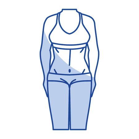 スポーツの摩耗ベクトル イラスト デザインを持つ女性  イラスト・ベクター素材